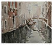 Venice. Landscape with Bridge  /  Venezia. Landschaft mit Brücke   24x29  2011