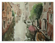 On the outskirts of Venice  /  Am Stadtrand vonVenedig  23,5x32 2012