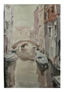 Venice. Landscape with boats  /  Venedig. Landschaft mit Booten   36x24  2012
