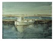 Lone boot  /  Einsames Boat   48x63cm 2008