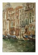 Channel. Venetian sketch  /  Kanal. Venezianische Skizze   33,5x22,5  2013