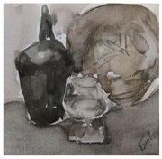 Still life with glass / Stillleben mit Glas  19,5x20cm  2007