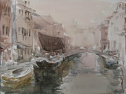 Venezia. Sail on the channel  /  Venezia. Segel am Kanal    29,5x39,5 2011