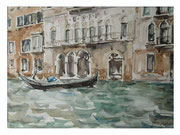 On the Grand Canal II  /  Am Canal Grande II    27,5x37  2013
