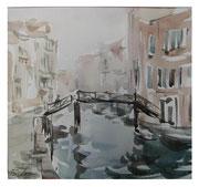 Bridge. Venetian landscape  /  Brücke. Venezianische Landschaft    24x26  2012