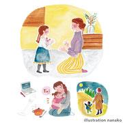 サンケイリビング新聞社 ギュって3月号 挿絵(2020)