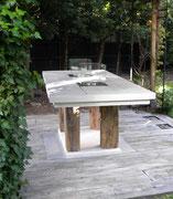 Gartentisch Mit Feuerstelle tisch unikate ideen de holz deko tisch möbel unikate