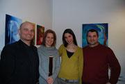 Asztalos Kinga keramikus kiállításának megnyitóján 2009 március 12-én a DNS Galériában