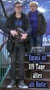 Emma is 119 days older than Hotte.