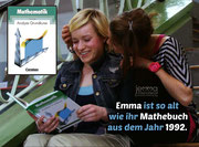 Emma is as old as her math book which dates from 1992.