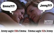 "Jenny said ""Emma"" 138 x - Emma said ""Jenny"" 112 x."