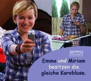 Emma and Miriam own the same plaid shirt.