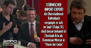 "STORMY IMPORT-EXPORT As Oberstudienrat (senior teacher) Kaltenbach he had fun in Saal 1 (episode 51), but Christoph Krix is better known as Inspector Mayser in ""Sturm der Liebe""."