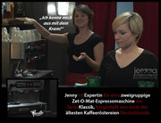 """I'm familiar with this stuff."" – Jenny is an expert on dual boiler Zet-O-Mat espresso machines of the classic series, manufactured by one of Germany's oldest coffee roasters."