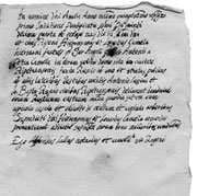 Rogito notarile vendita castello, Ripatransone (AP), 1571