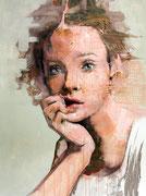"SOLD - ""Hyperbolic shades 11"" acrylic on canvas 80x100cm - available"