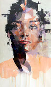 SOLD - portrait - acrylic on canvas 40x68cm