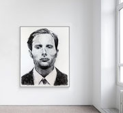 """Portrait 302"" - AVAILABLE  contact me: info@dariomoschetta.com - Black pastel on paper 120x150cm"