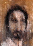 AVAILABLE -  selfportrait 5 - acrylic on scratched double paper - 50x70