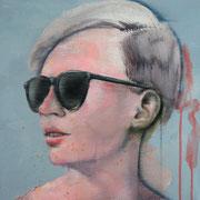 """""""Sustainable gaze 5"""" - AVAILABLE - acrylic on canvas 40x40cm"""