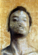 AVAILABLE -  selfportrait 4 - acrylic on scratched double paper - 82x119cm