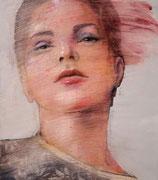 "SOLD - ""Sustainable gaze 2"" - acrylic on canvas 35x40cm"