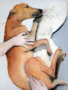 "SOLD - ""Fantastic dog! 5"" - acrylic on canvas 59x78cm"
