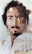 """AVAILABLE - """"selfportrait"""" - acrylic on canvas 40x68cm"""