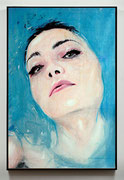 """SOLD - """"Portrait 405"""" - digital painting on paper and acrylic on canvas 60x90cm"""