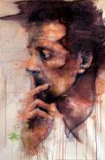 "SOLD - ""Hyperbolic shades 2"" acrylic on canvas 65x90cm"