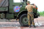 """BILD-Besuch im Bundeswehrcamp """"N´DJILI"""" am Flughafen Kinshasa. Bis Weihnachten soll das Camp aufgelöst und Soldaten samt aller Technik wieder zu Hause sein."""