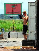 Fit-Machen für das Verladen der Camp-Technik.