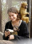 Ashley aus den USA absolvierte in Phalaborwa ein Praktikum für ihr Studium der Veterinärmedizin.