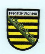 """Ein """"Sachsen""""-Patch für den Seesack."""