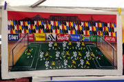 Auf den Basaren von Kapstadt gibt es südafrikanischen Fußball zum Einrollen und Mitnehmen,...