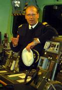 Hardy R. Hübener war unser Herbergsvater und zum Zeitpunkt unseres Besuches  Kommandant des Schiffes.
