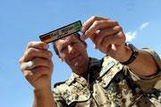 """Schauspieler Ralf Moeller (""""Gladiator"""") besucht die deutschen Soldaten in Afghanistan."""