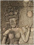 Detalle en piedra, ruinas de Angkor. © Daniel Roca García.