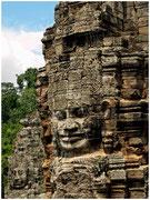 Caras de piedra en el templo Bayón, Angkor. © Daniel Roca García.