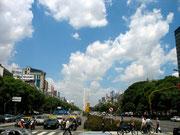 El Obelisco con la plaza de la Republica. © Leonardo Ara Pueyo.