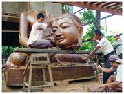 Cantera para la fabricación de imágenes de Buda, Mandalay. © Daniel Roca García.