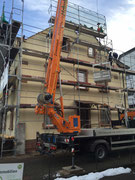 Bauphase Umbau und energetische Sanierung Mehrfamilienohnhaus in Waldkirch