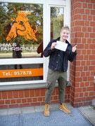 Lysander Uminski hat seinen B Führerschein seit dem 23.02.2021!