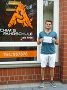 Frederik Diekmann hat seinen B Führerschein seit dem 02.08.2019!