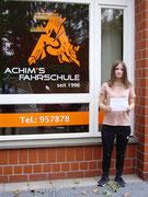 Aileen Wurm hat ihren B Führerschein seit dem 27.08.2020!