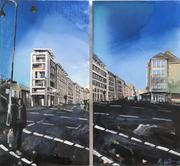 2017 Dasselstraße 2x25x48 cm  (Ausstellung Istanbul- nicht erhältlich derzeit)