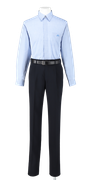 城東高校男子夏制服(長袖カッターシャツ着用)
