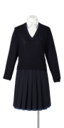 小松島西高校女子合い制服(セーター着用)
