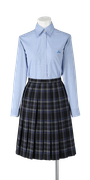 城東高校女子夏制服(長袖ブラウス着用)