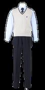 徳島科学技術高校男子合い制服(ニットベスト着用)